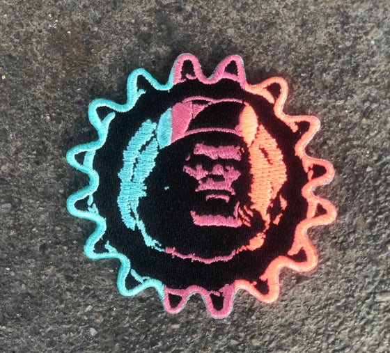 Image of King Kog Embroidered Patch - Neon fade