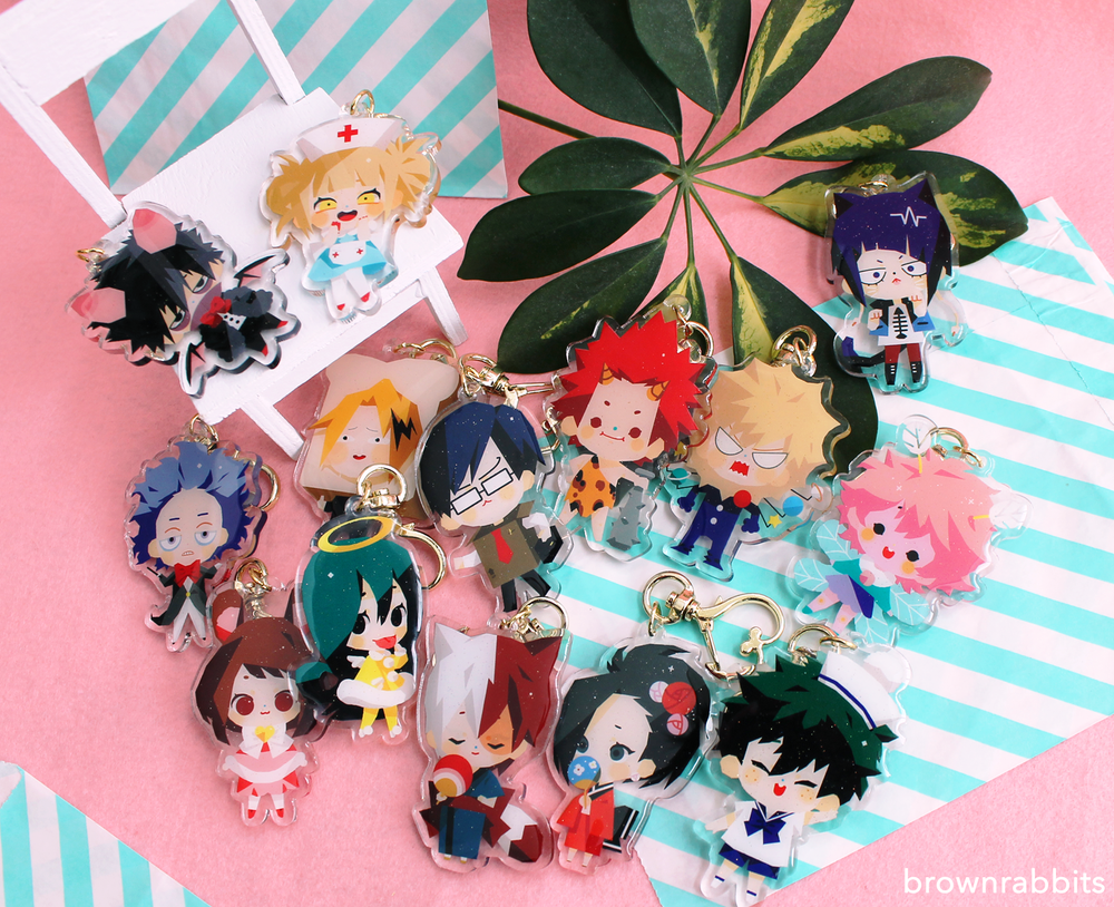 Image of Boku No Hero Academia - Costume Party Double sided Keychains