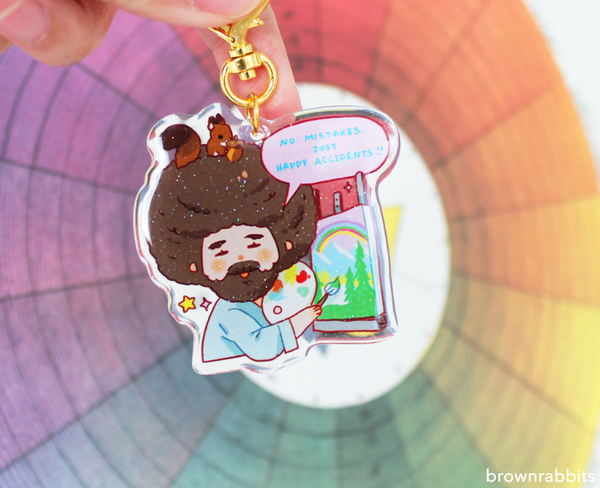 Image of Bob Ross Keychain