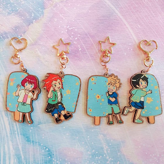 Image of Sea Salt Ice Cream Wooden Charms