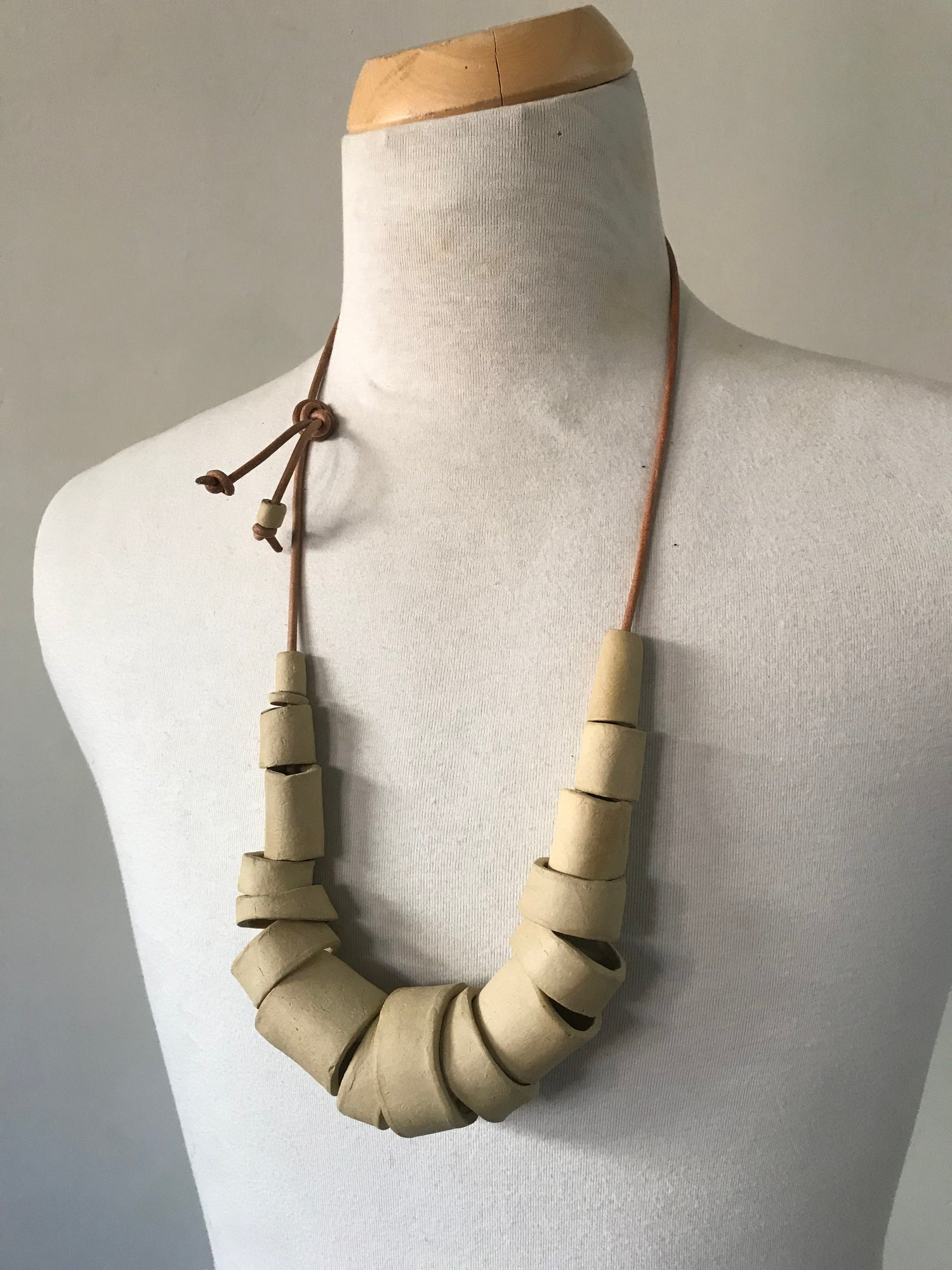 Image of Neolithic necklace in bone
