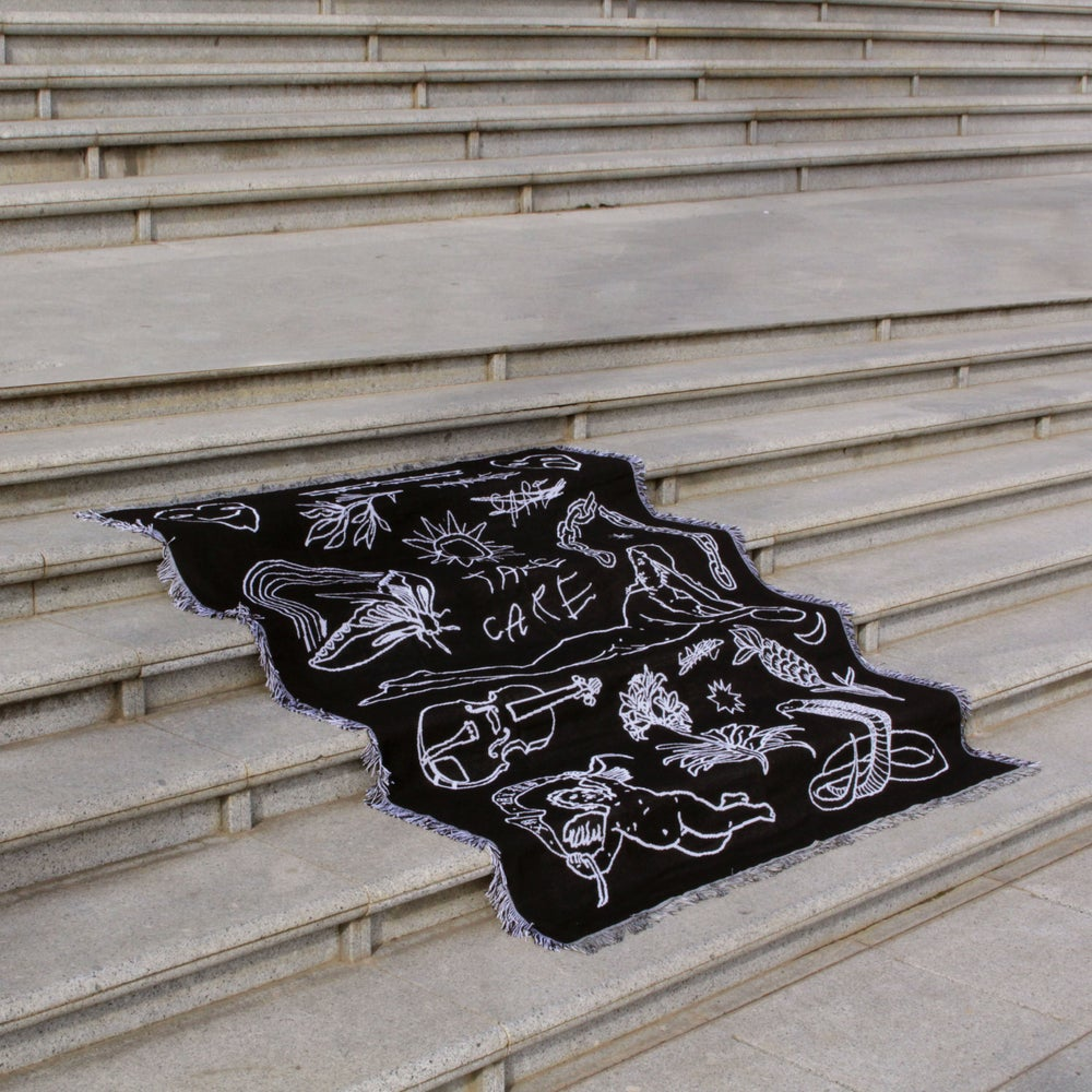 Image of TAKE CARE woven blanket