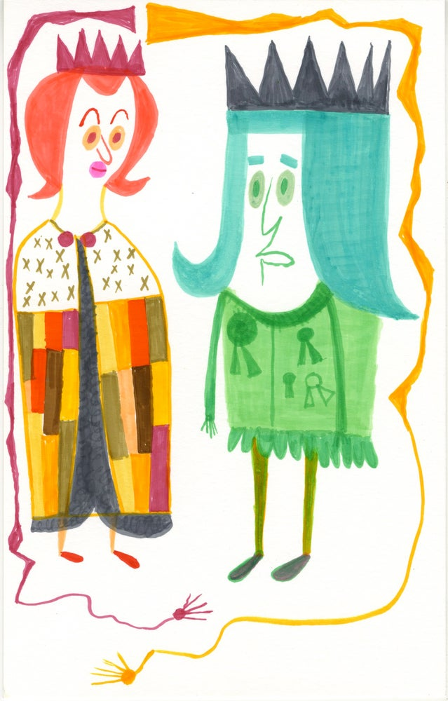 Image of Anne Neville and Richard III. Original drawing.