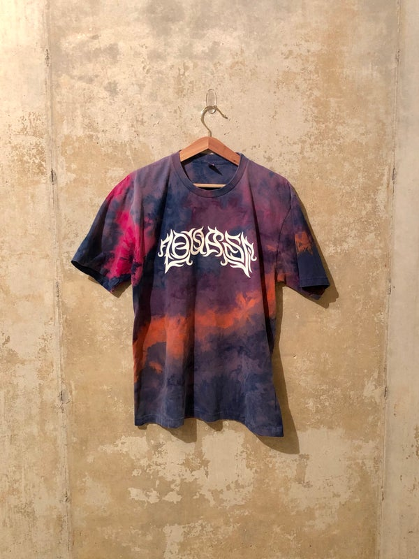 Image of Medium Puff Print Tie Dye Shirt #1