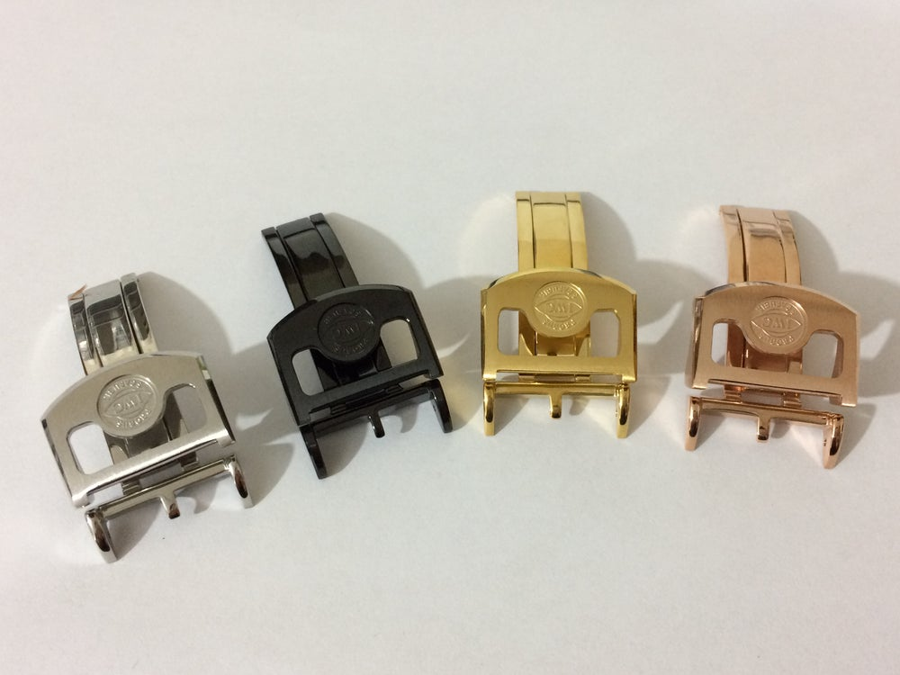 Image of IWC DEPLOYMENT BUCKLES,18MM,4 X COLORS,TOP QUALITY.NEW