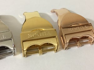 Image of TUDOR 18mm DEPLOYMENT GENTS WATCH STRAP BUCKLES,4 X COLORS,NEW.