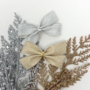 Image of Silver Metallic Tinsel Stripe