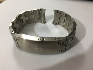 Image of Omega sports stainless steel Curved Lugs Gents WATCH STRAP-22MM-NEW.