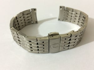 Image of OMEGA 2OMM CURVED LUGS STAINLESS STEEL GENTS WATCH STRAP,NEW.