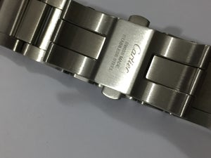 Image of CARTIER 23MM CURVED LUGS STAINLESS STEEL GENTS WATCH STRAP,NEW.