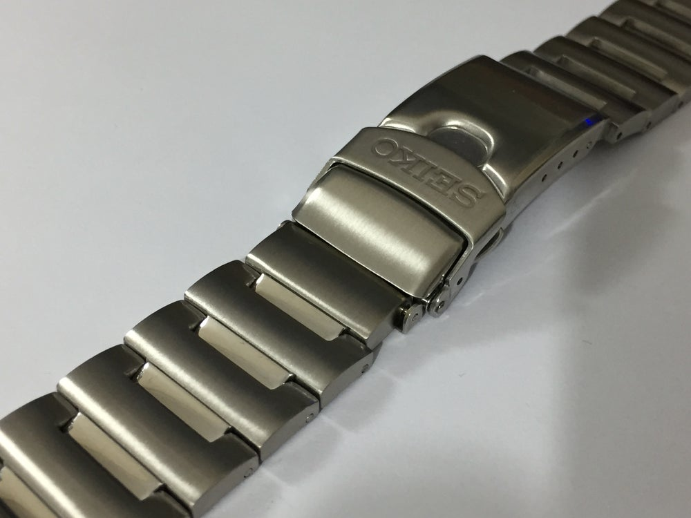 Image of SEIKO STRAIGHT SOLID FIXED LUGS GENTS WATCH STRAP,S/STEEL,20MM,NEW.