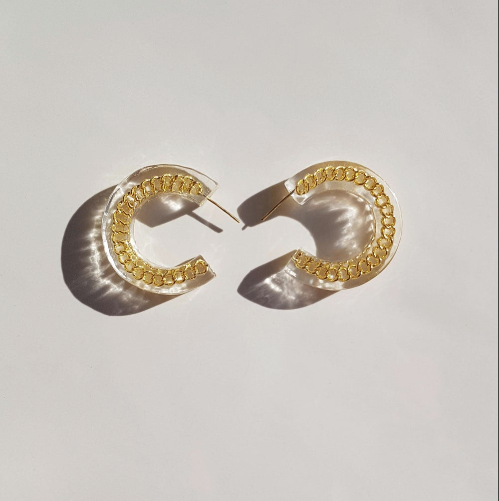 Image of Oasis Hoops - Gold