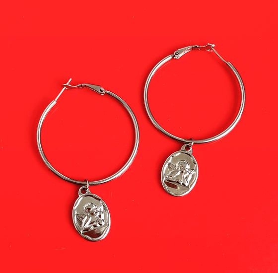 Image of CHERUB HOOP EARRINGS