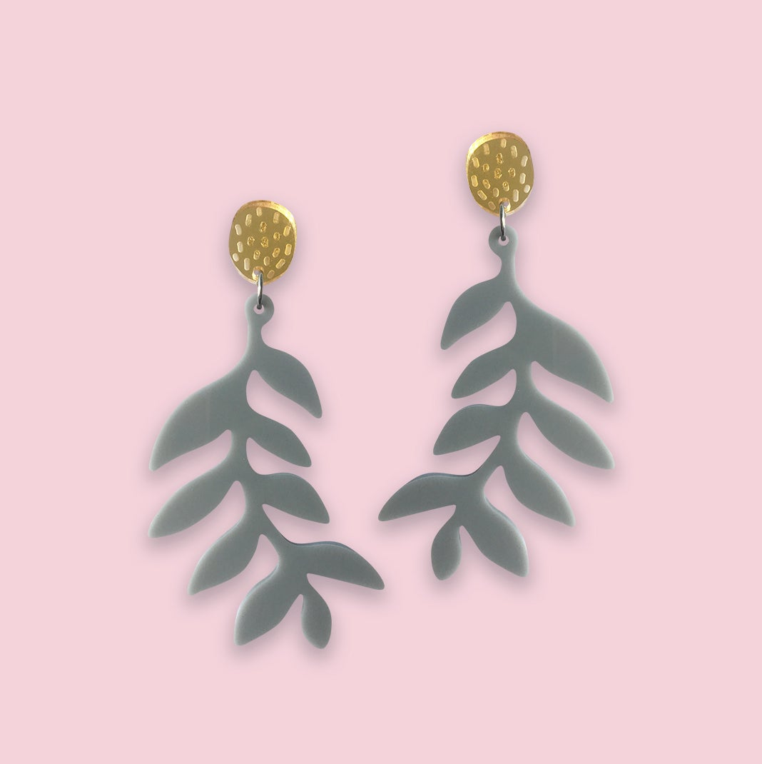 Image of Forest Ferns (Grey/Gold)