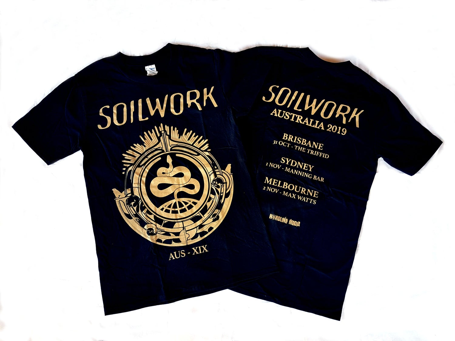 Image of SOILWORK - Snake Design -  Aussie Tour Shirt