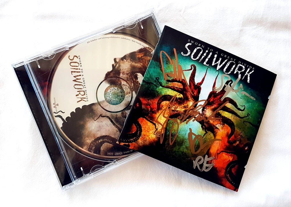 Image of CD (SIGNED) - Soilwork 'Sworn to a Great Divide'