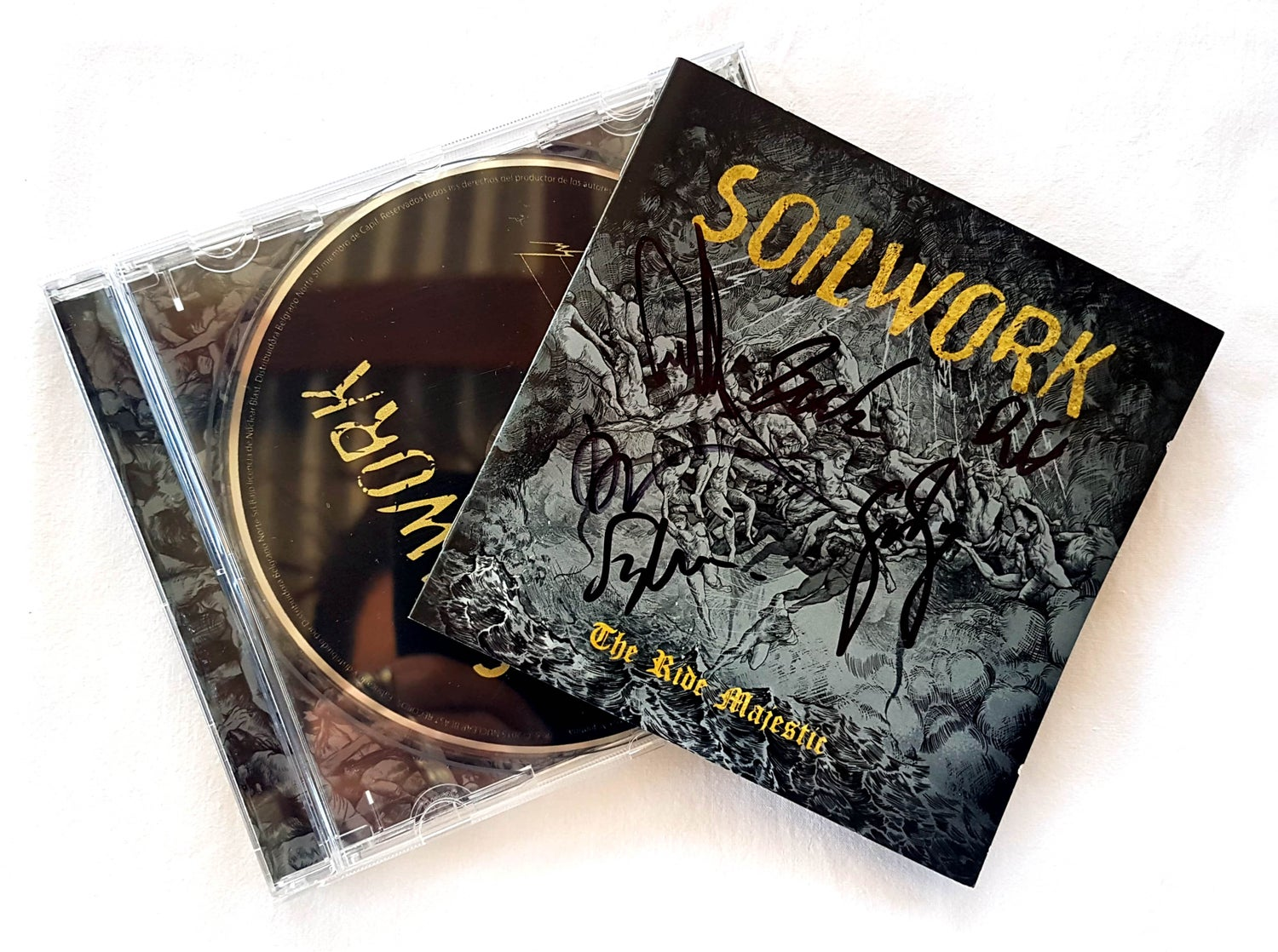 Image of CD (SIGNED) - Soilwork 'The Ride Majestic'