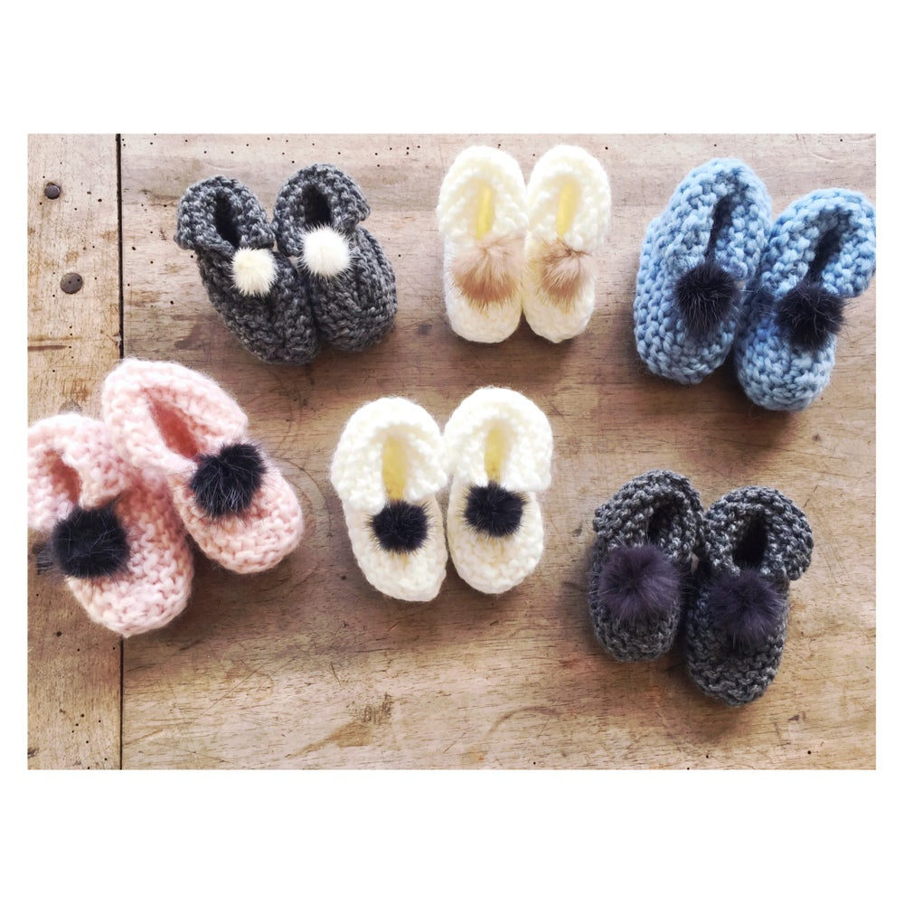 """Image of """"JULIE"""" - CHAUSSONS NAISSANCE - 0/6 MOIS"""