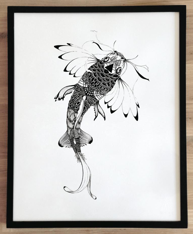 Image of Sérigraphie, série 7 ex  / Poisson