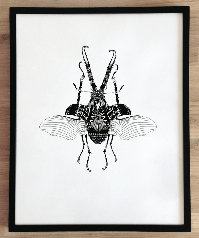 Image of Sérigraphie, série 7 ex / Insecte