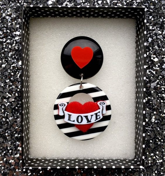 Image of  Vintage Love Hearts Brooch