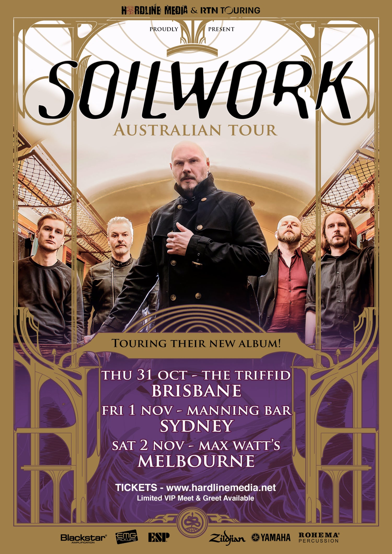 Image of POSTER (Unsigned) - Soilwork Australian Tour 2019