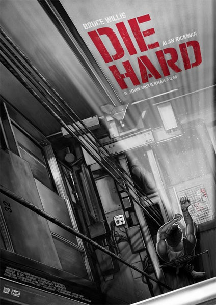 Image of Die Hard A3 Variant (officially licensed artist proof copies)
