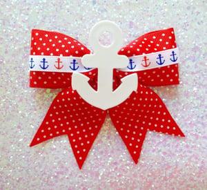 Image of Vintage Stripes Galore Hoop Earrings - Red