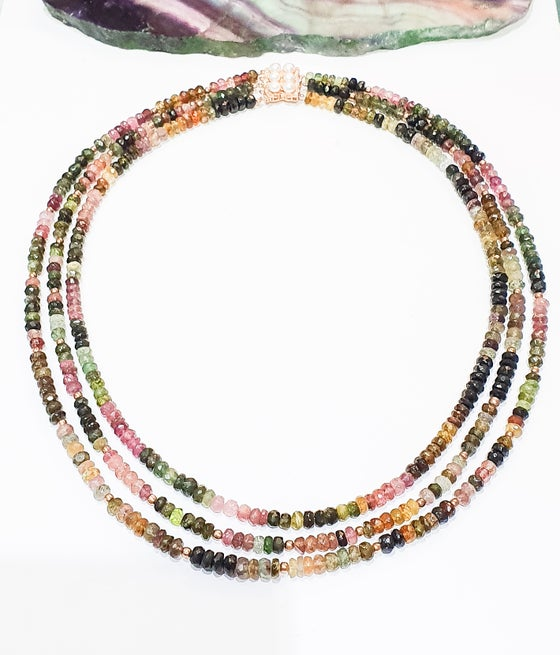 Image of 3 Row Tourmaline Necklace