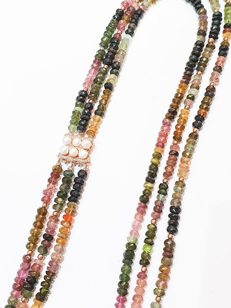 Image of 3 Row Tourmaline Necklace