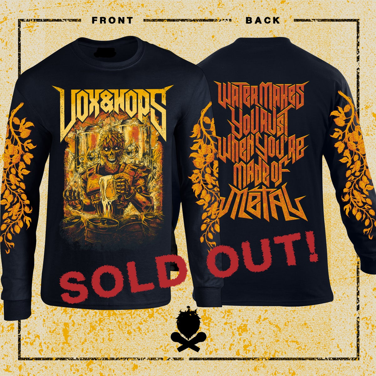 """Image of Vox&Hops """"Water Makes You Rust When You're Made Of Metal"""" Long Sleeve"""