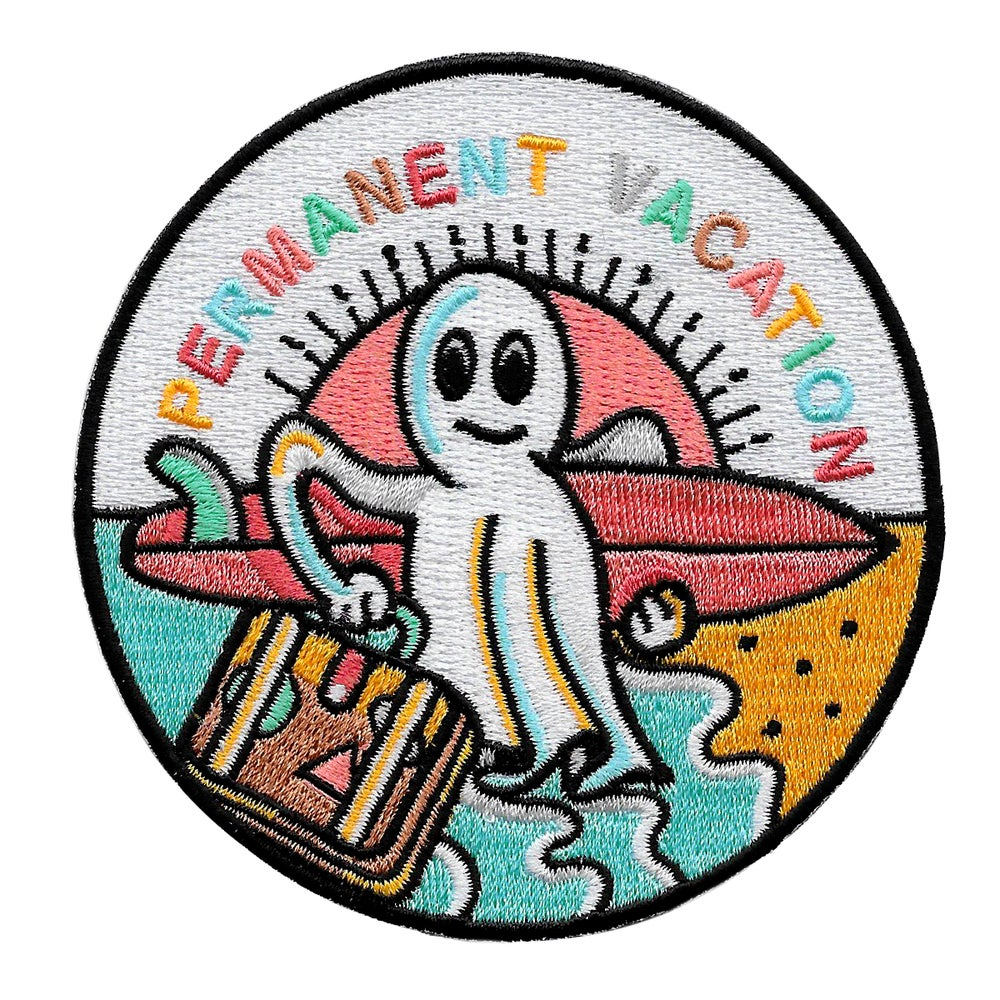 Image of Permanent vacation ghost patch by buenas olas