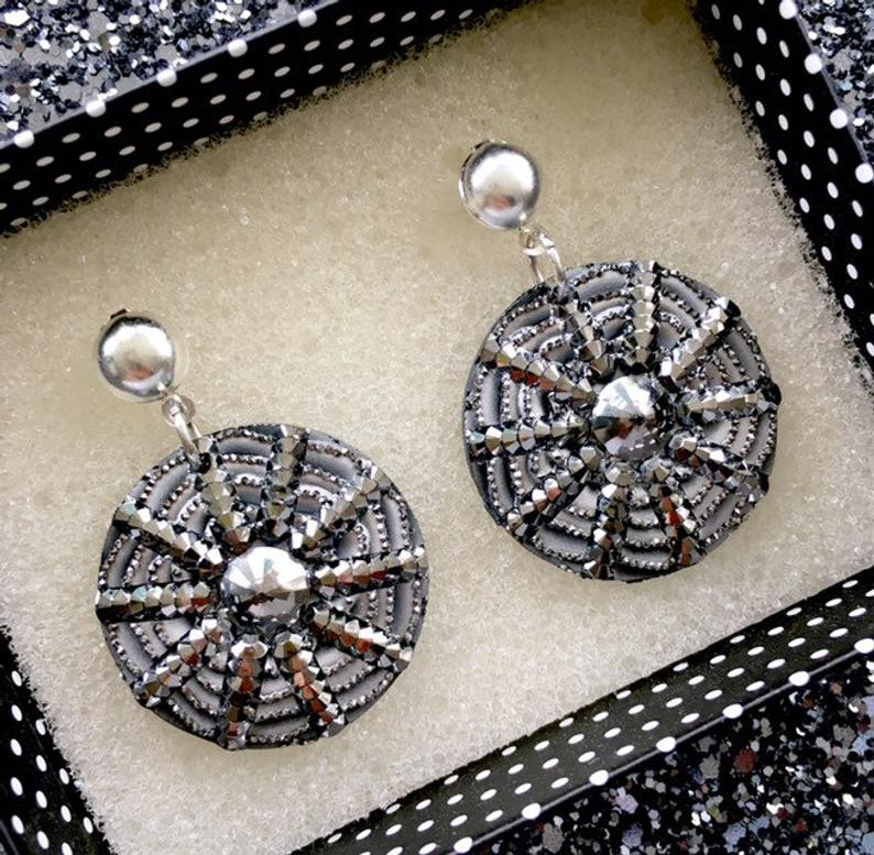 Image of I Put A Spell On You Earrings - Gunmetal/Silver