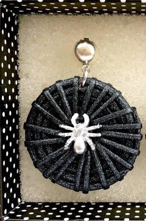 Image of Tiki Voodoo Spider Earrings - Black/Gold