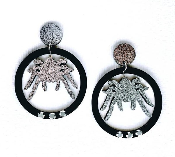 Image of Spooky Kooky Spider Earrings