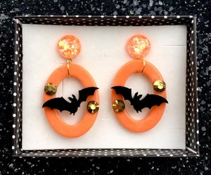 Image of Batty Dreadful Earrings - Ghost White
