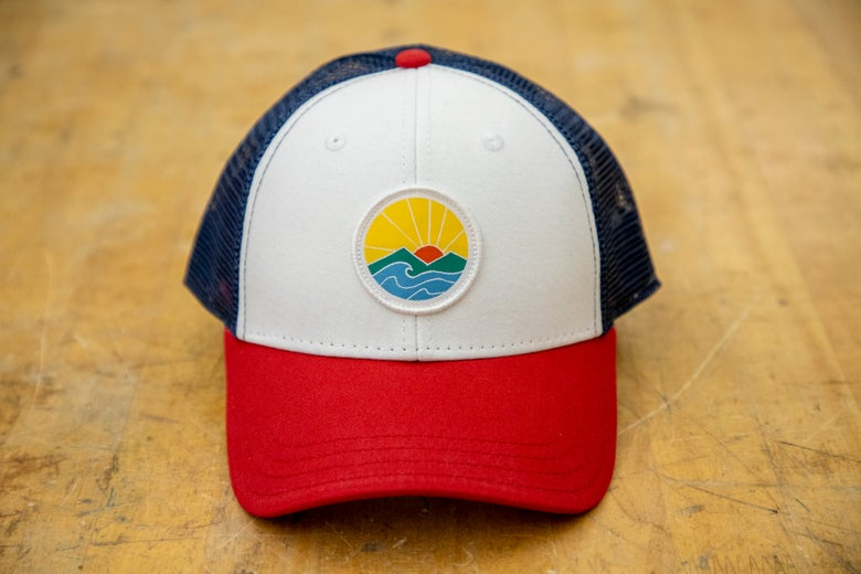Image of Sunrise trucker hat - red/white/blue
