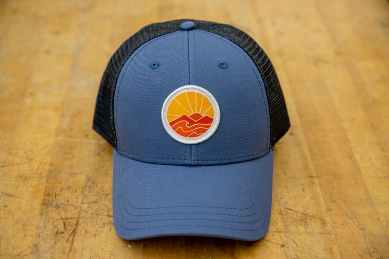 Image of Sunrise trucker hat - blue/grey