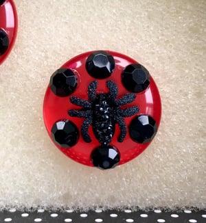 Image of Arachno Fabulous Spider Earrings - Red/Black