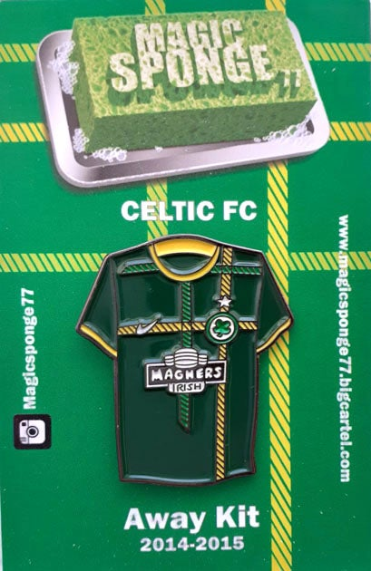 Image of Out Now Celtic FC Away Kit 2014-2015 Pin.