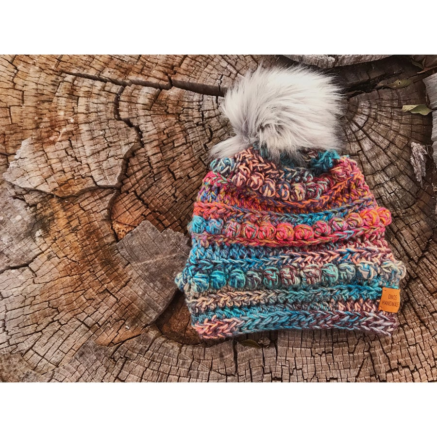 Image of Variegated Bobble Beanie
