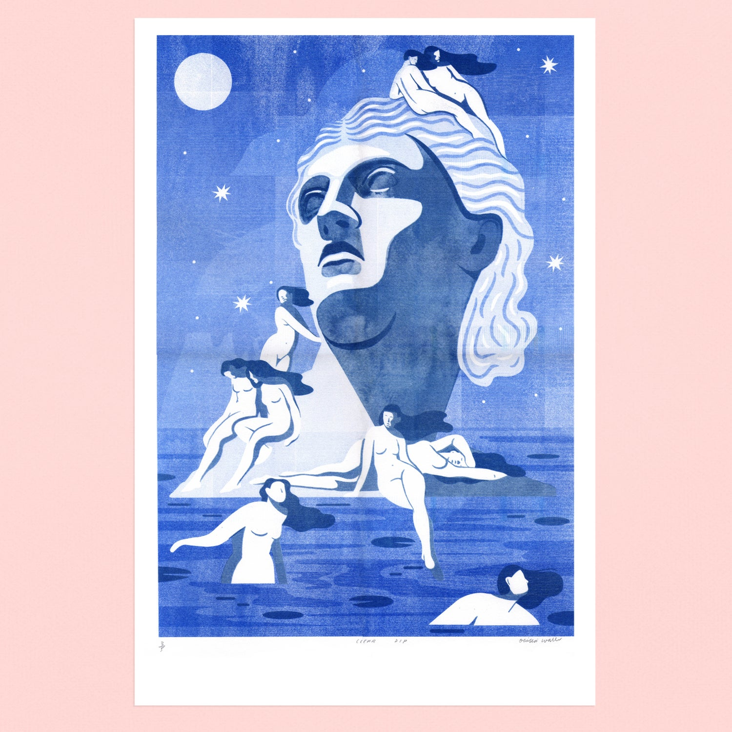 Image of DIP riso print in clear