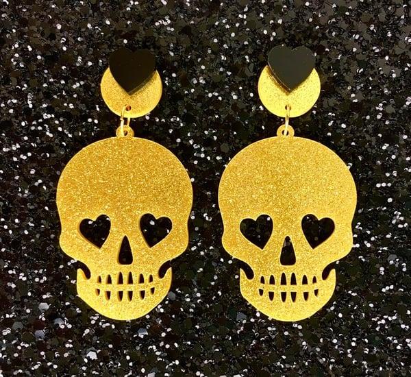 Image of 5 Colors - Necromance Skull Romance Earrings