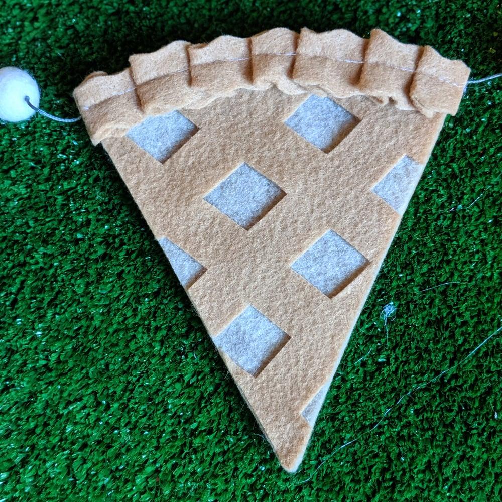 Image of 5 foot Felt Pie Slice Garland