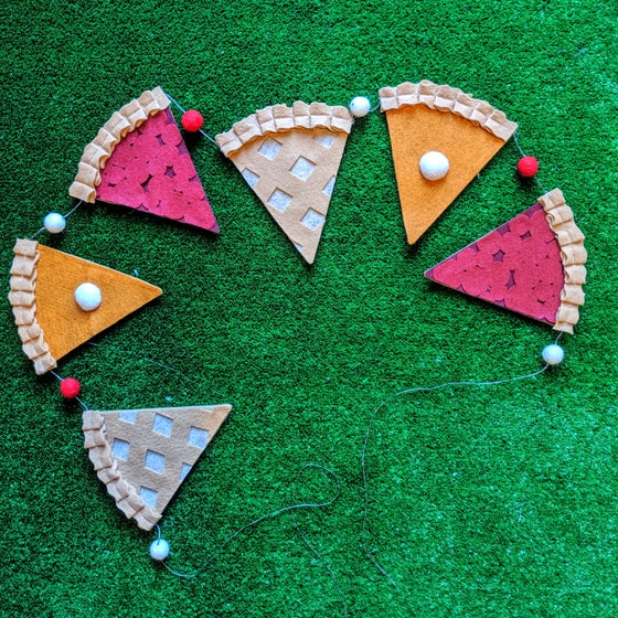 Image of 5 foot Felt Pie Slice Garland