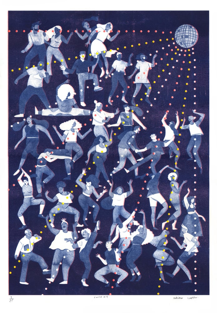 Image of 'ENERGY' riso print