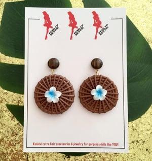 Image of Fiji Sunset Paradise Earrings - Orange