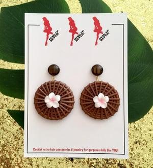 Image of Fiji Sunset Paradise Earrings - Yellow