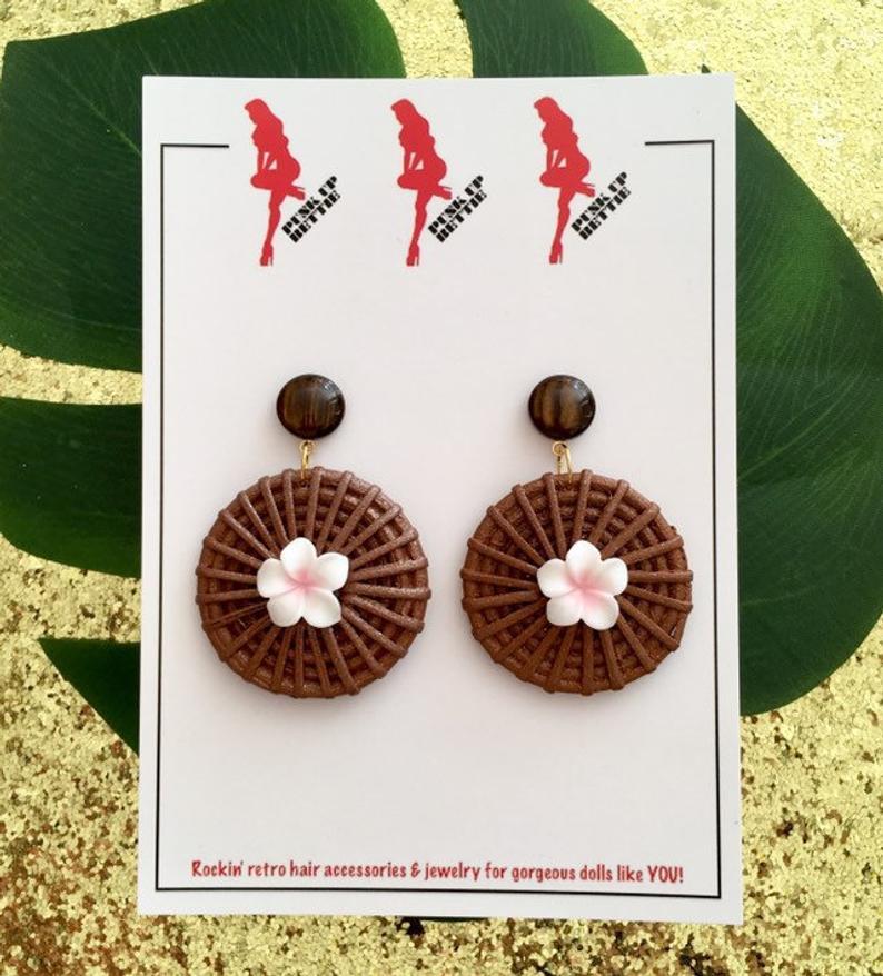 Image of Fiji Sunset Paradise Earrings - Pink