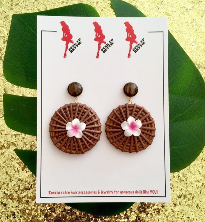 Image of Fiji Sunset Paradise Earrings - Hot Pink
